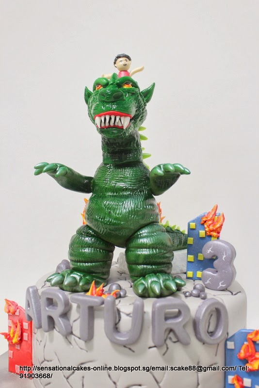 The Sensational Cakes Godzilla 3d Cake Singapore 9 W Kid