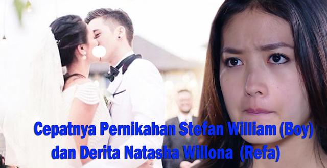 gambar Cepatnya Pernikahan Stefan William (Boy) dan Derita Natasha Willona (Refa)