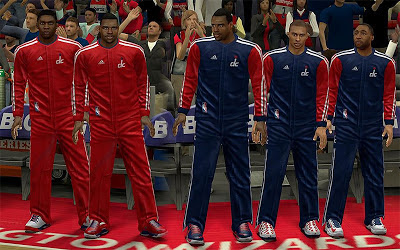 NBA 2K13 Real Wizards Warmup Uniforms Patch
