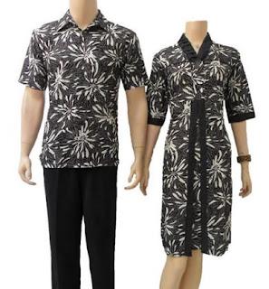 gambar baju batik lebaran pria wanita modis