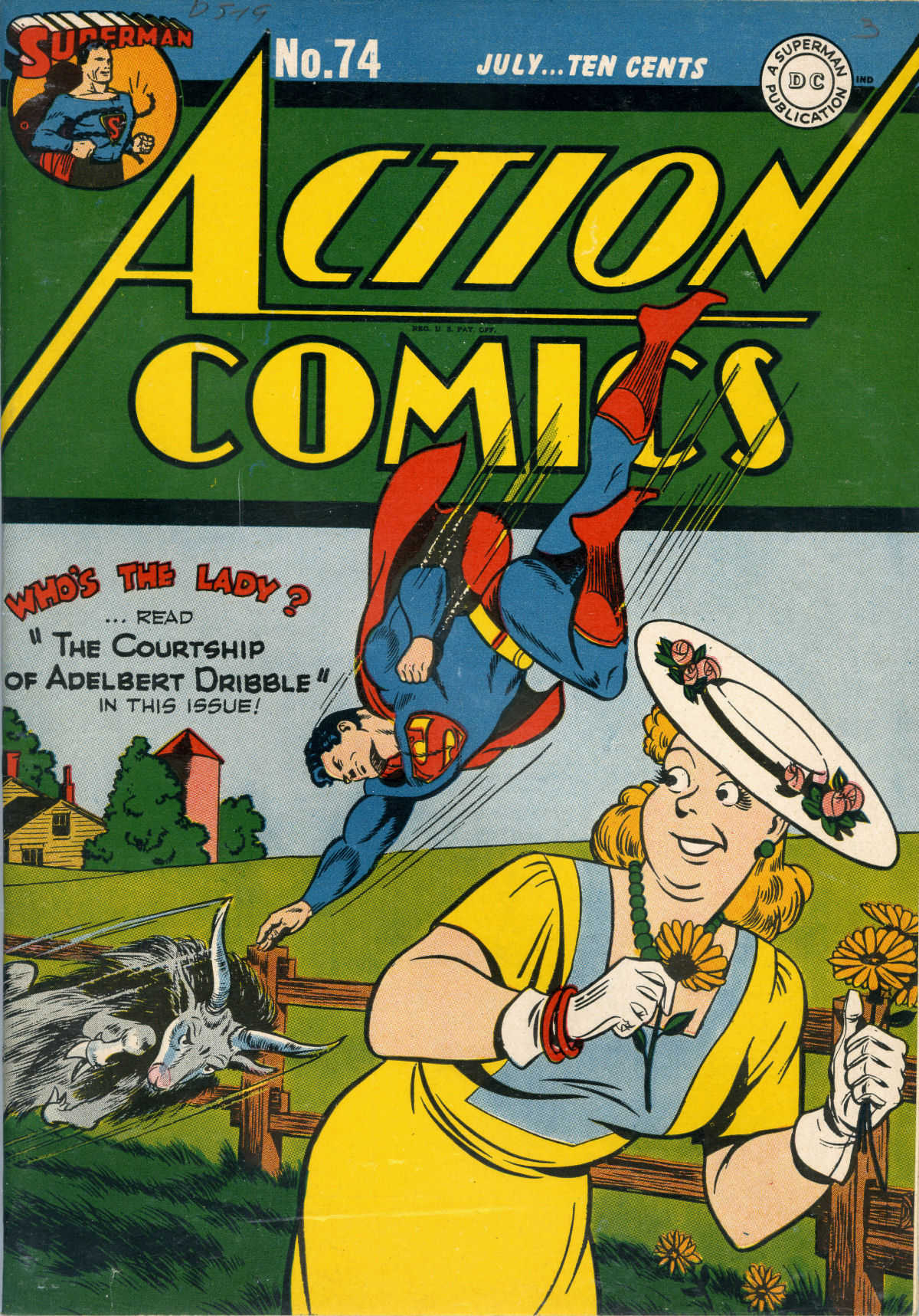 Read online Action Comics (1938) comic -  Issue #74 - 1