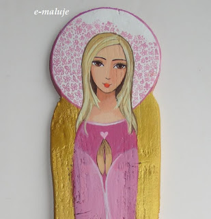 Anioł z Sercem… Ikona Autorska na Miłość pisana