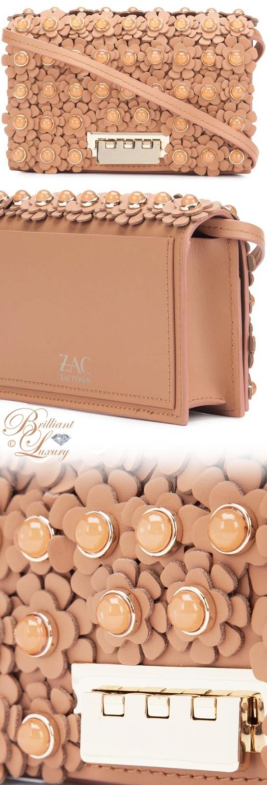 Brilliant Luxury ♦ Zac Zac Posen Flower Embellished Crossbody Bag