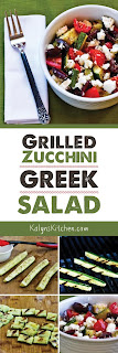 Grilled Zucchini Greek Salad found on KalynsKitchen.com