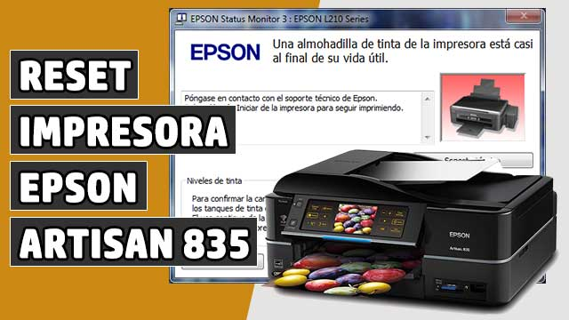 resetear Almohadillas impresora EPSON Artisan 835