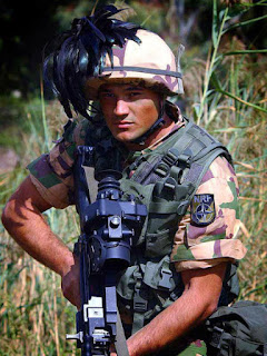 A modern Italian Bersagliere in the  service of Nato