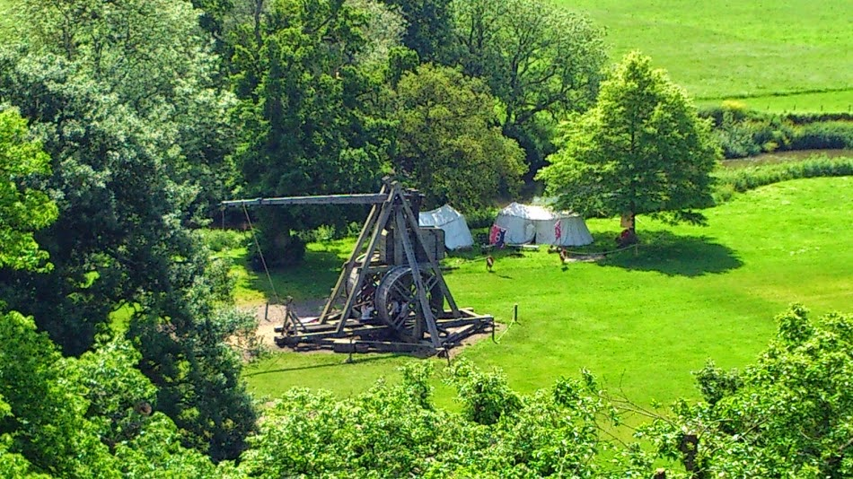 Warwick Castle Review - Close up view of Trebuchet