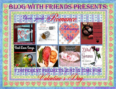 Blog With Friends, a monthly project based collaborative group post. February's theme: Romance | www.BakingInATornado.com | #MyGraphics
