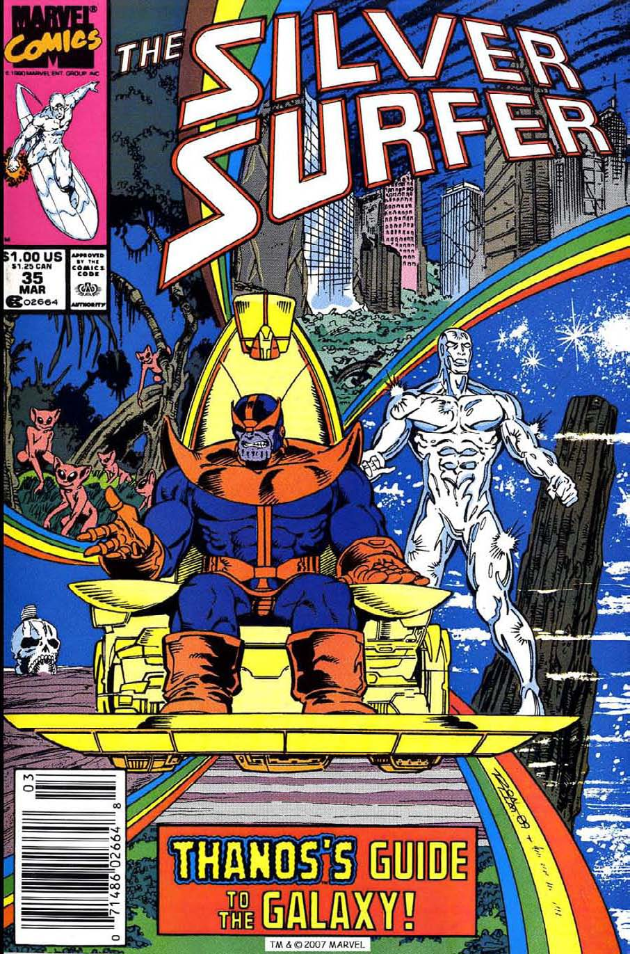 Read online Silver Surfer (1987) comic -  Issue #35 - 1