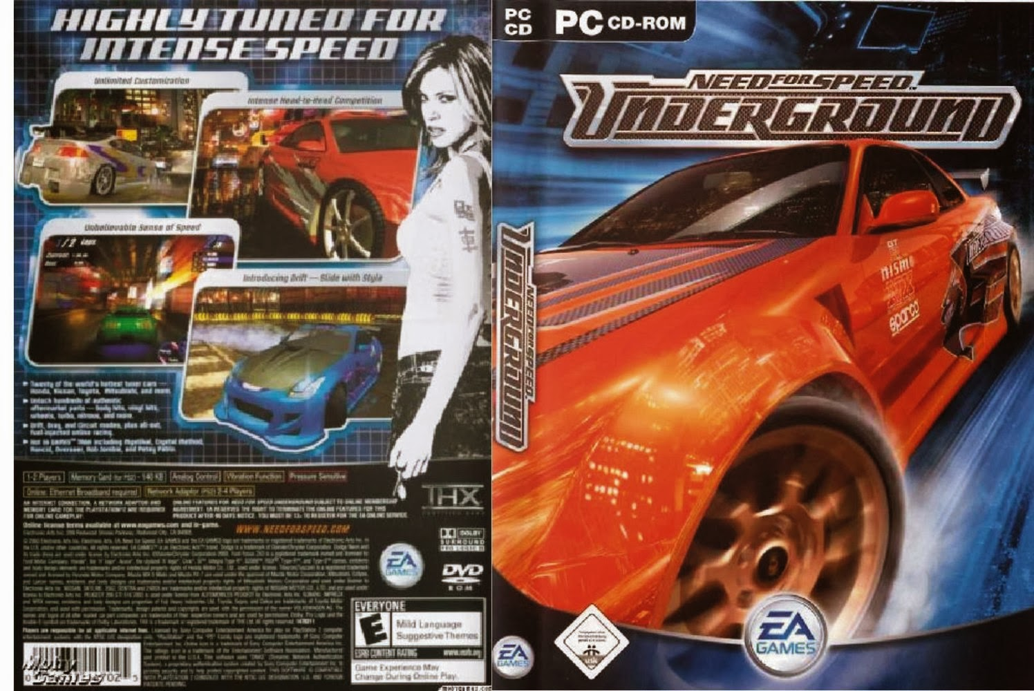 Need For Speed UnderGround 1 Highly Compressed Free ...