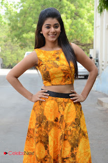 Yamini Bhaskar looks super cute in Yellow Choli and Skirt at Titanic First Look Launch