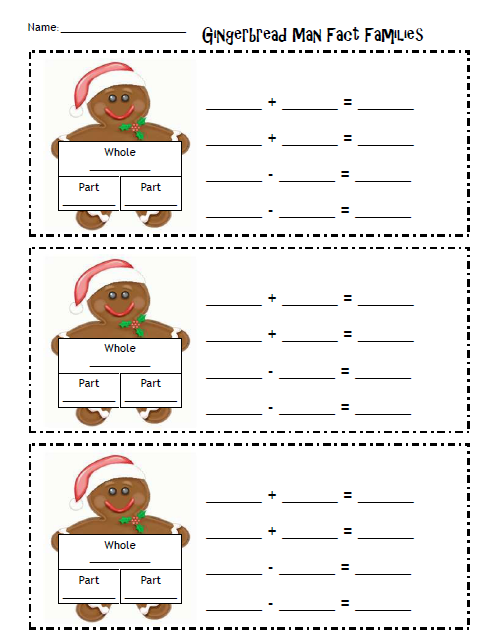 Math Worksheets gingerbread math worksheets : Number Names Worksheets » What Is Fact Family In Mathematics ...