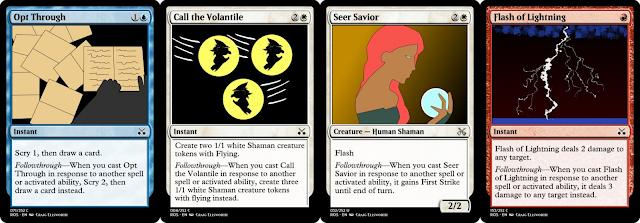 Opt Through, Call the Volantile, Seer Savior, Flash of Lightning