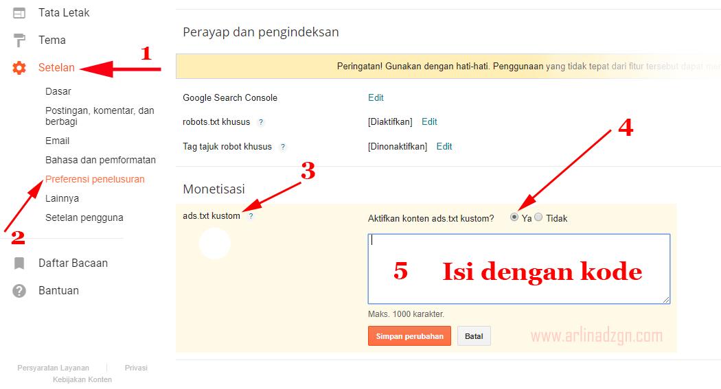 Cara Aktifkan Ads.txt di Blogger