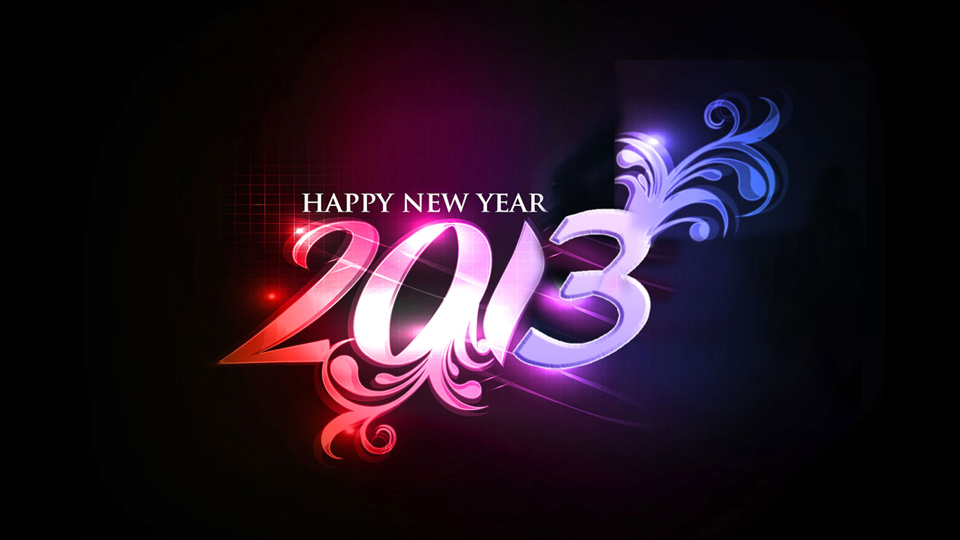best happy new year 2013 stylish wallpapers happy new year. 1366 x 768.Best Happy New Year Wallpapers