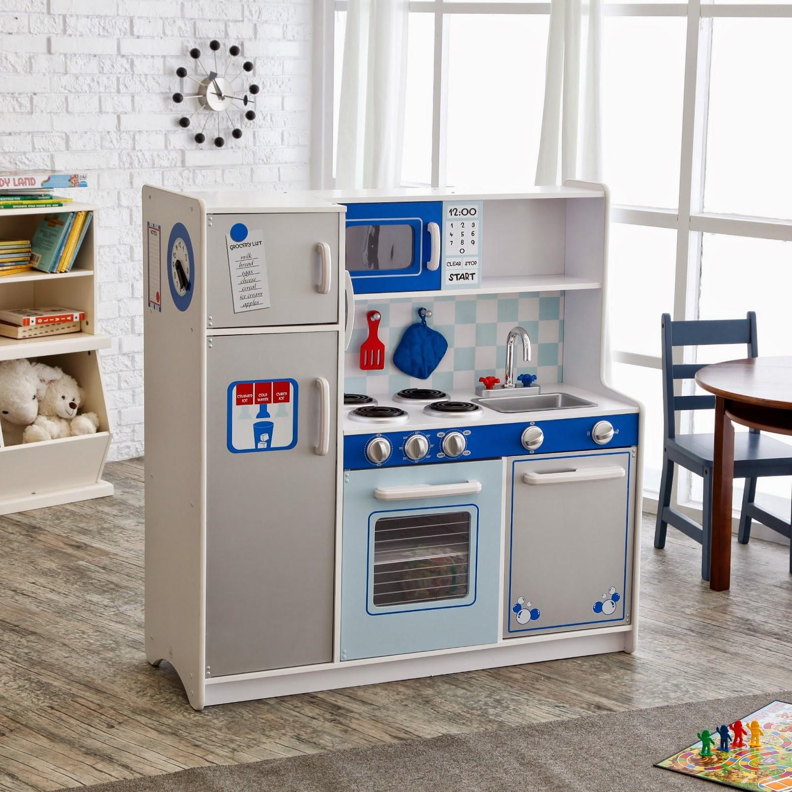 Kid Craft Kitchen Black Stainless Steel 我們看到了 我們是生活 家 美國木製玩具 傢俱製造商kidkraft 所 所推出的廚房系列