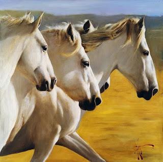 caballos-mujeres moderno-realismo