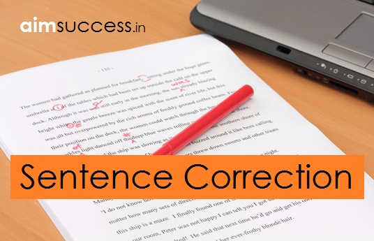 Sentence Correction for SBI Clerk/RRB 2018: 22 June