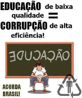 Resultado de imagem para educação e corrupção