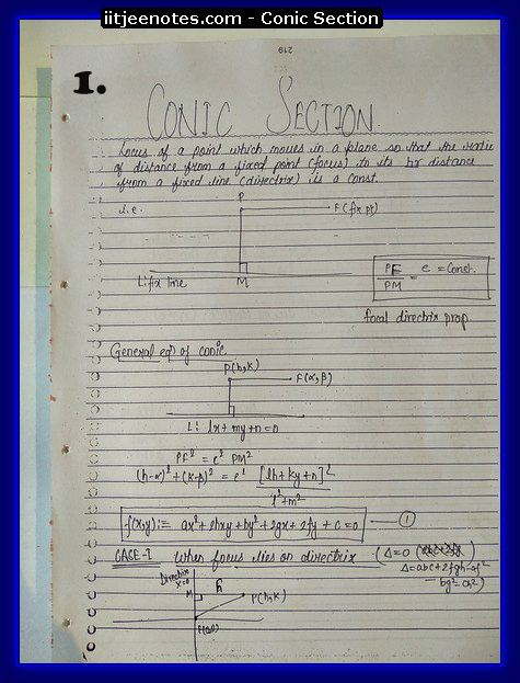 CONic section notes