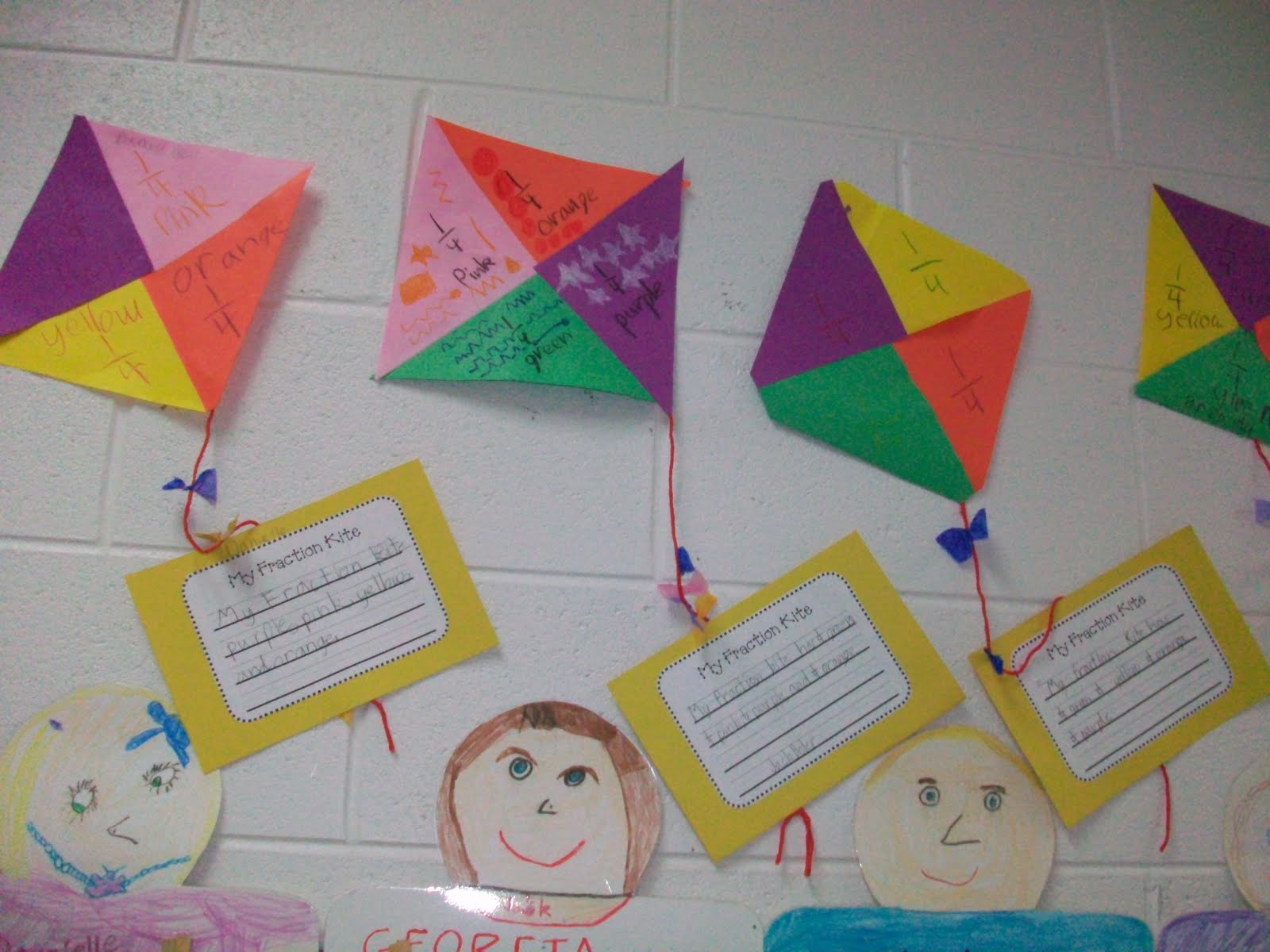 Crazy For First Grade Fraction Kites Shadow Puppets