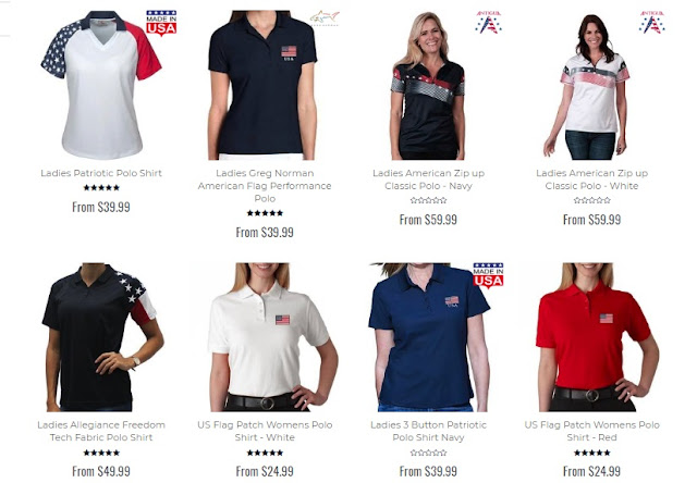 patriotic polo shirts design, women's polo shirt