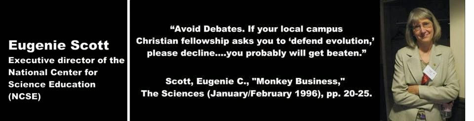 Avoid Debates. If your local campus Christian fellowship asks you to 'defend evolution,' please decline. … you probably will get beaten.