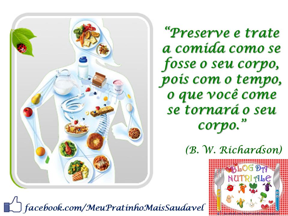 Frases Doação De Alimentos: Nutricionista Alessandra Pires: Para