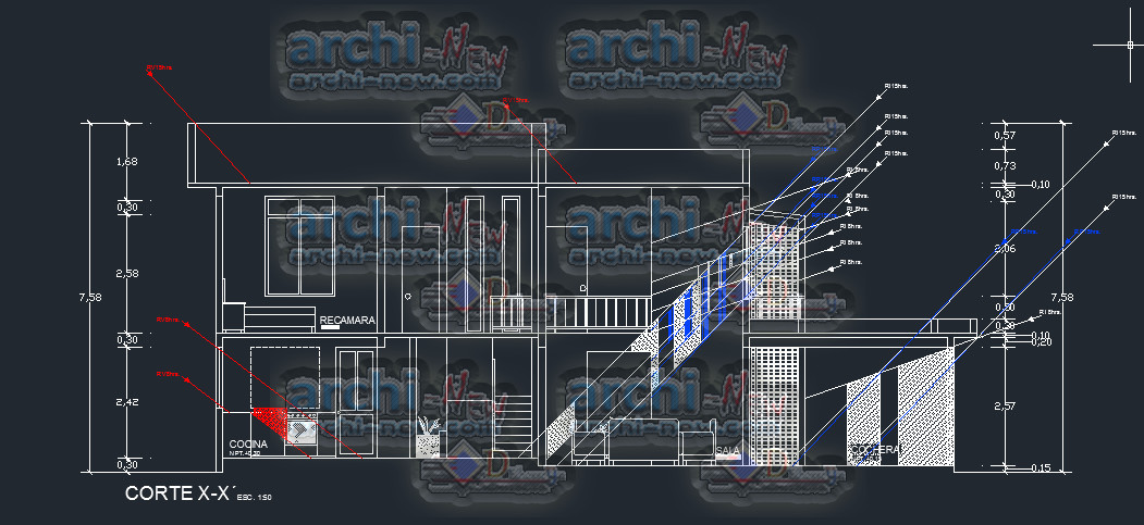 Download autocad cad dwg file house solar orientation for House cad file
