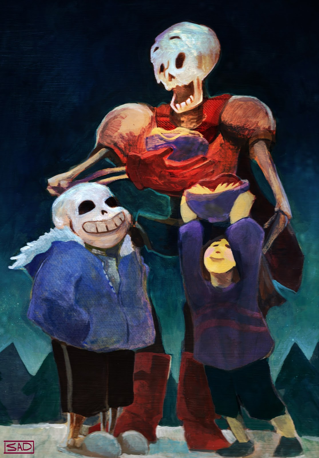 Waking up in Art school: Fanart Friday: Sans, Papyrus and Frisk from