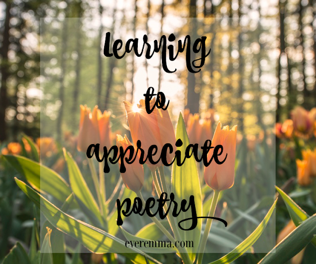 Learning to appreciate poetry.