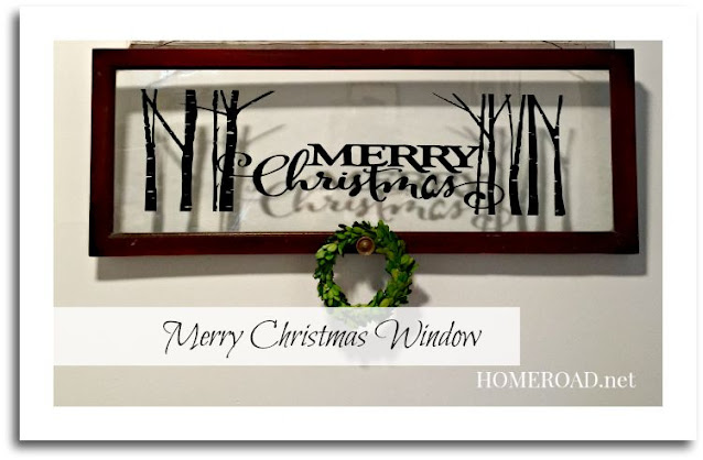Merry Christmas Decorative Window with decorative border and overlay