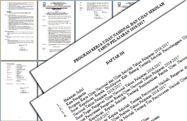 Berikut ini ialah berkas Contoh Program Kerja Ujian Nasional  Contoh Program Kerja Ujian Nasional (UN) dan Ujian Sekolah (US) SD, SMP, SMA, SMK Tahun 2016-2017