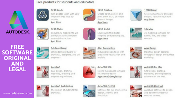produk autodesk free for education