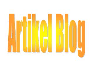 Membuat artikel pada blog