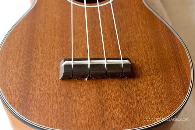 Ohana SK-14 soprano ukulele bridge