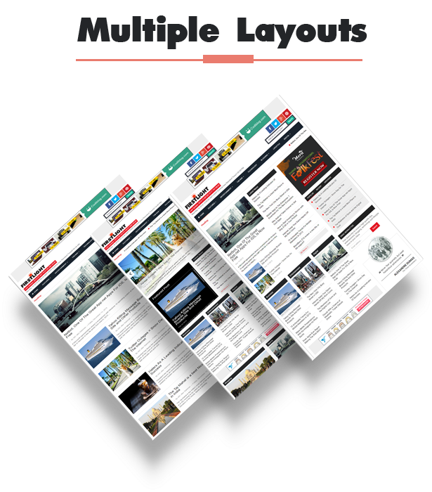 multiple blogger template layout