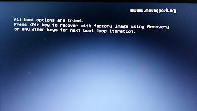 Samsung PC မ်ားတြင္ျဖစ္တတ္သည့္ All boot options are tried error ေျဖရွင္းနည္း