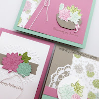 Stampin' Up! Oh So Succulent ~ 2017 Stampin Up Occasions Catalog ~ Stamp of the Month Club Card Kit by Julie Davison www.juliedavison.com