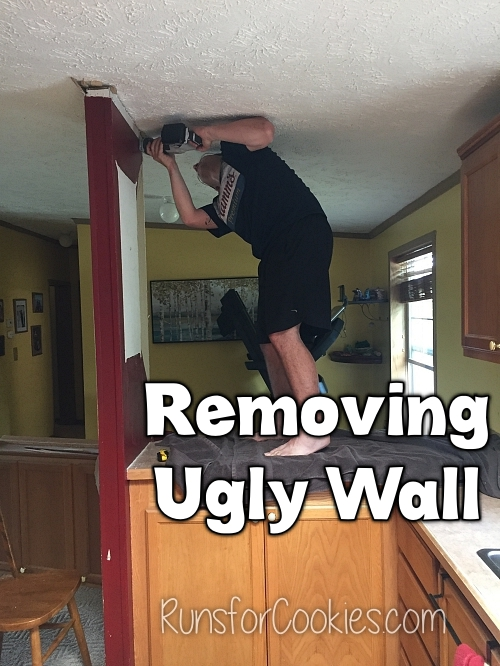 Removing wall and cupboards