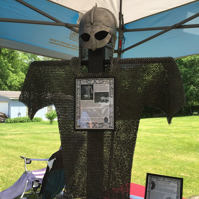 Replica of Viking chainmaille at Midsommar festival in Geneva, IL