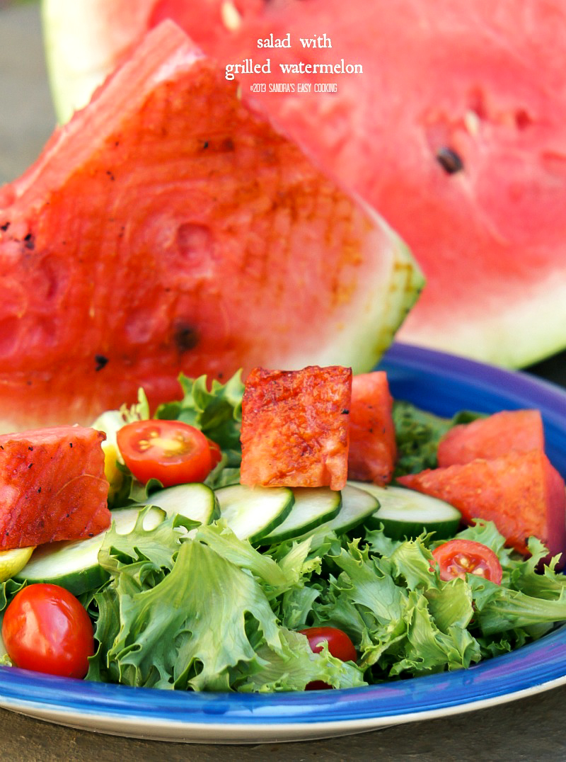Salad with Chipotle Grilled Watermelon recipe