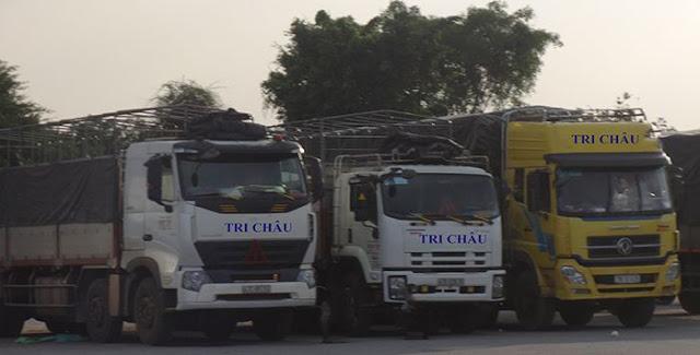 Xe tải của công ty vận tải tri châu