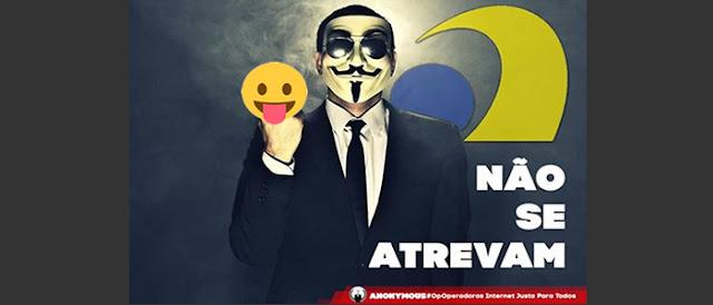 Anatel afirma que não vai proibir as operadoras de limitar a internet e Anonymous promete atacar.