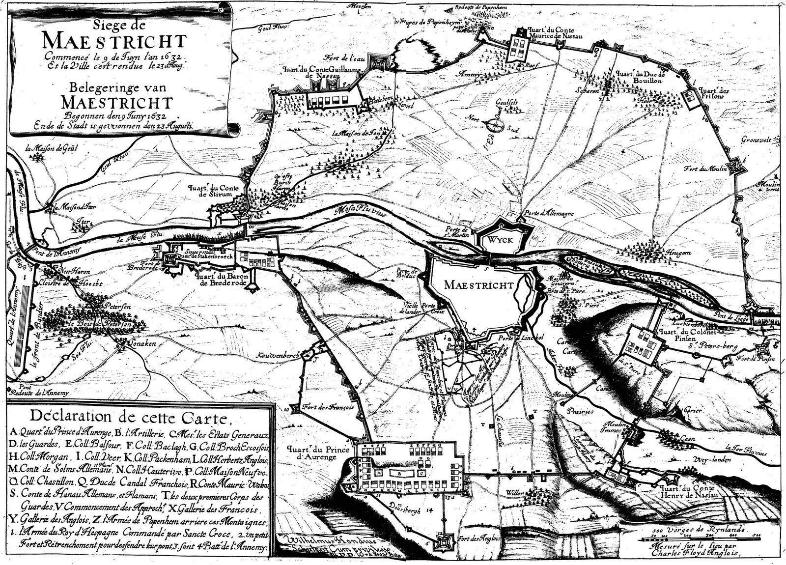 Siege of Maestricht by Dutch army in 1632