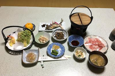 松渓館の夕食