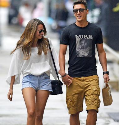 Mandy Capristo dan Mesut Ozil