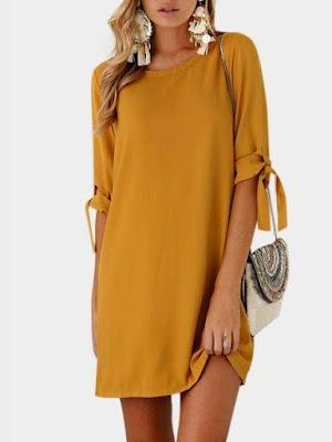 https://www.yoins.com/Yellow-Self-tie-at-Sleeves-Mini-Dress-p-1179932.html