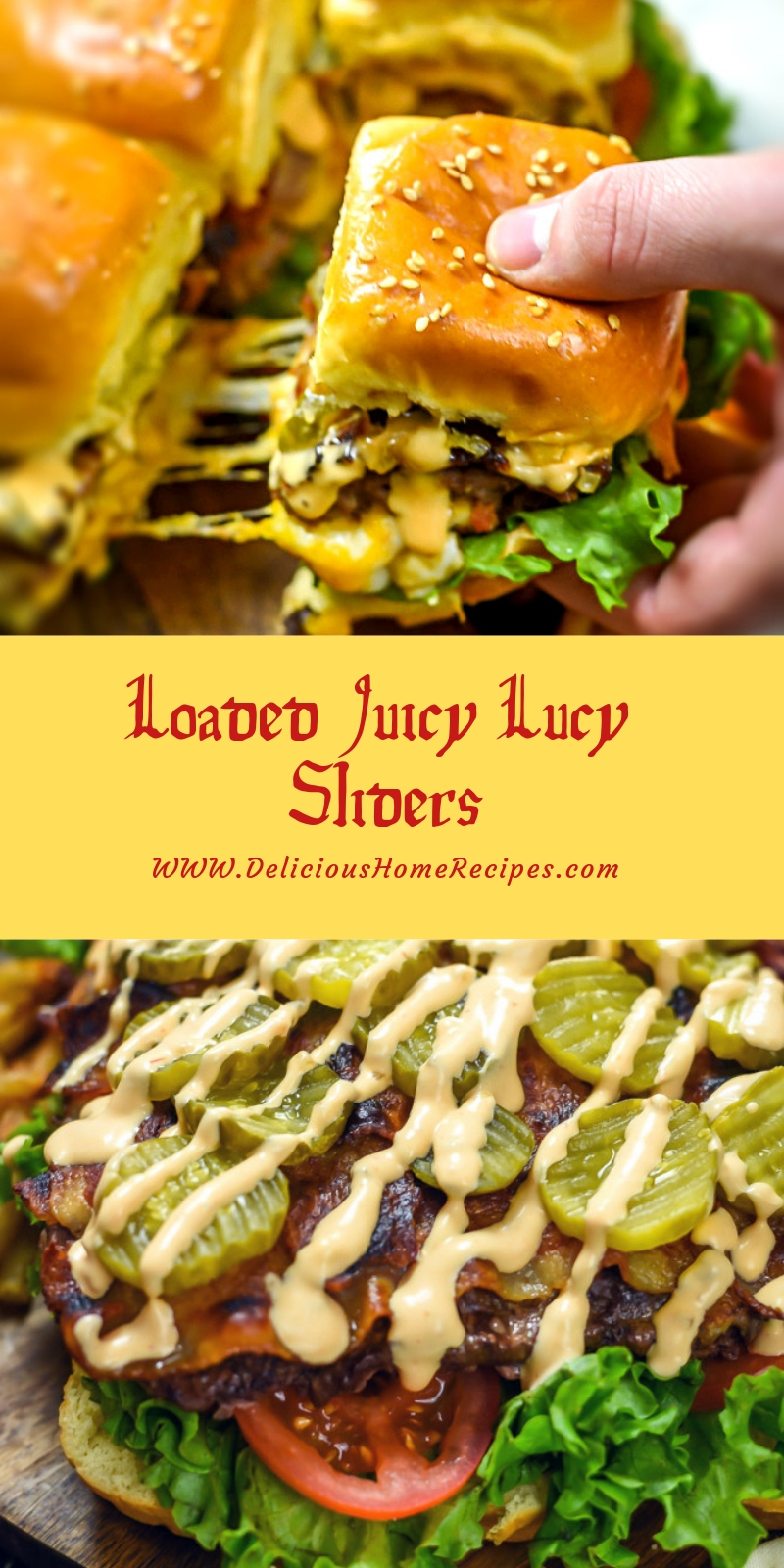Loaded Juicy Lucy Sliders