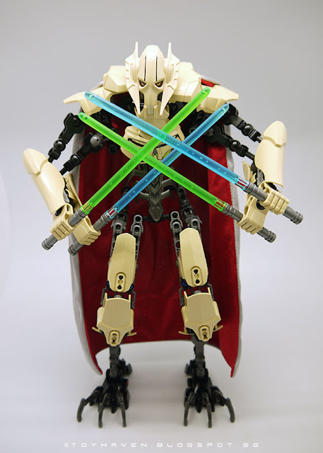 osw.zone Review: LEGO Construction 75112 Star Wars General Grevious 32cm high Build figure
